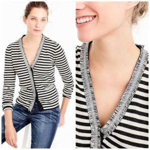 J. CREW Women Striped Harlow Cardigan Wool